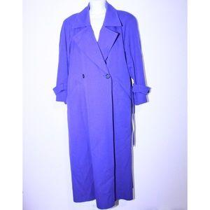 bill blass Jackets & Coats - Vintage Wool Bill Blass Royal Blue 1980's Trench